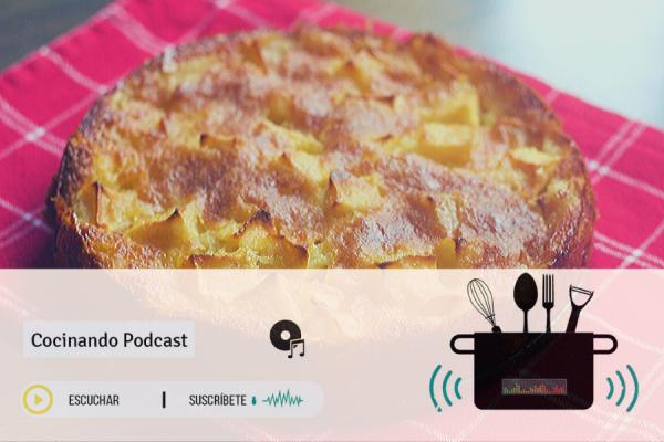 Tarta de manzana tarta de queso Cocinando Podcast